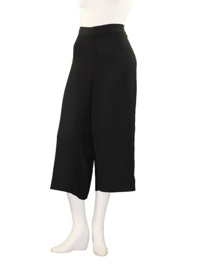 Mat Fashion Plus Size Black Wide Leg Crop Pant 711.2041
