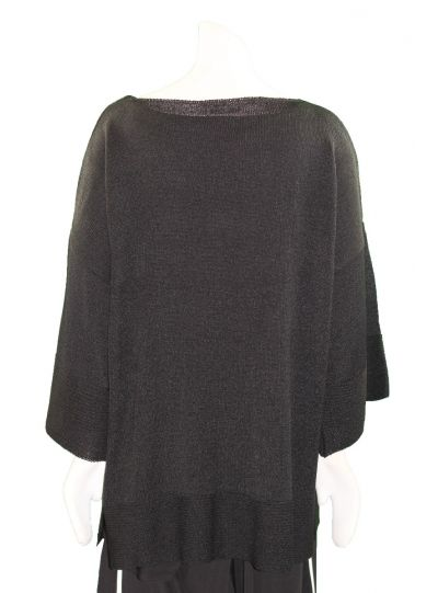 Mat Fashion Plus Size Black Love Me Sweater 711.5014