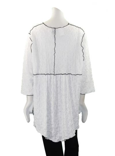 Noblu White Puckered Bonita Top 71902