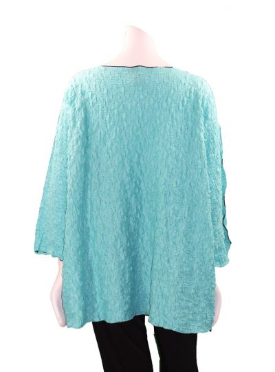 Noblu Turq Puckered Leeza Top 71905