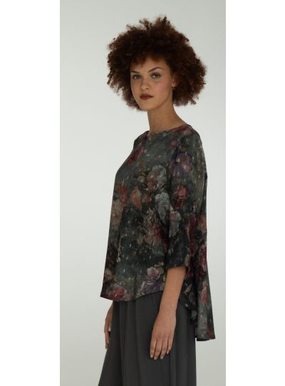 Niche Grey Multi Floral Top 82020