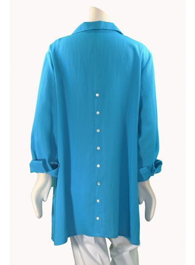 Fridaze Plus Size Lake Button Back Shirt AA142-CL3091