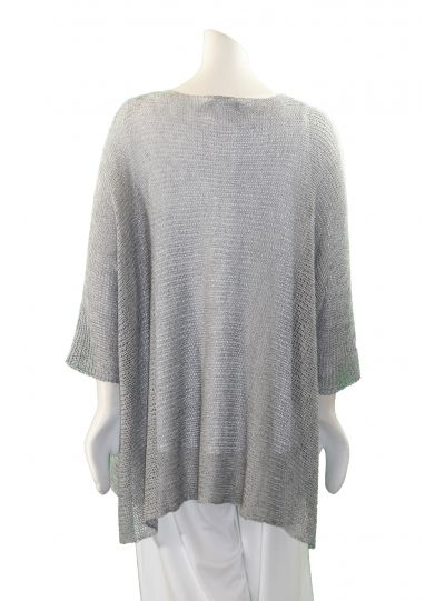 Alembika Silver Knit Pullover Sweater RS013