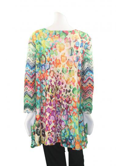 Amma Plus Size Alina Print Pullover Aline Tunic 592H-Alina