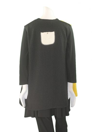 Margaret Winters Plus Size Grey/Yellow Vest BA825MM
