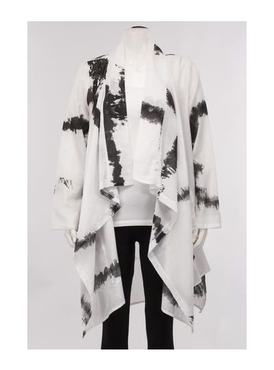 Igor Klee White/Black Open Front Cardigan S18-113