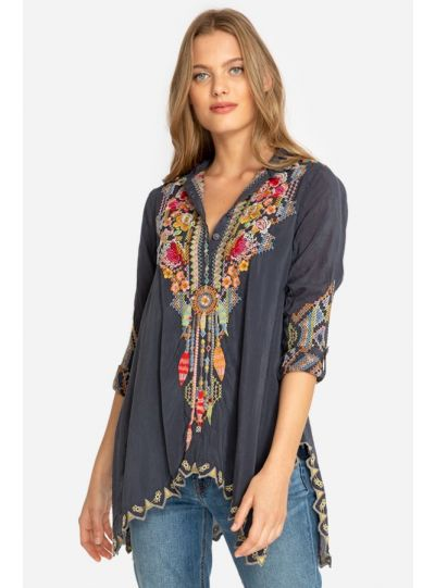 Johnny Was Graphite Festival Tunic C23318-D