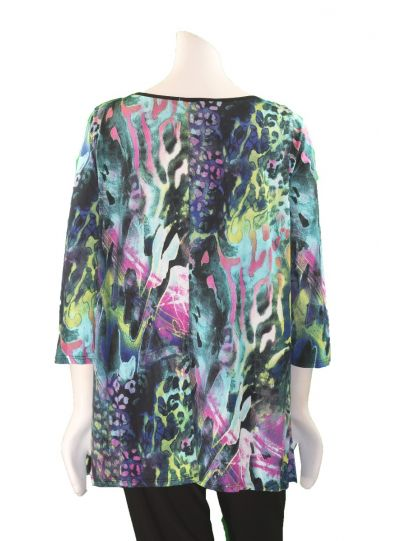 Channa Plus Size Multi Print Pullover Tunic CHT-1572-2