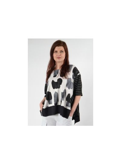Alembika Clouds Pullover Short Sleeve Tunic T652C