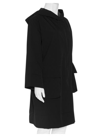 Luukaa Black Coat with Hood 8K308