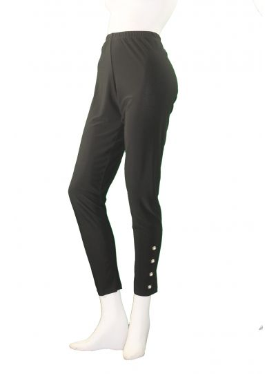 Sun Kim/Comfy Plus Size Black Grommet Legging SK218