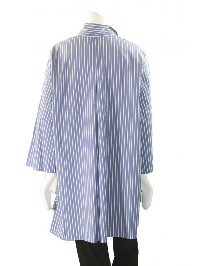 Comfy Plus Size Linda Stripe Catherine High Low Shirt SN524