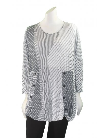 Comfy Plus Size Amy Print Crinkle Willow Tunic WC605P