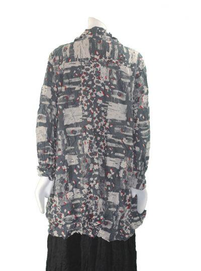 Comfy Plus Size Jody Print Crinkle Sally Shirt WCD123P