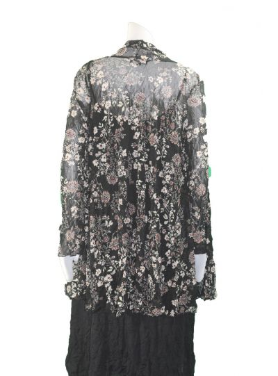 Comfy Plus Size Alison Print Mesh Victoria Jacket WES1132P
