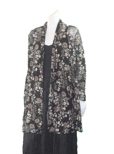 dec6dfc260d Comfy Plus Size Alison Print Mesh Victoria Jacket WES1132P ...