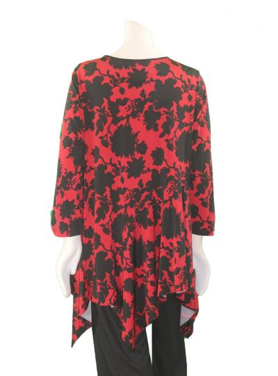 Comfy Plus Size Diane Print Charon Tunic WSK186P