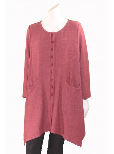 Cheyenne Red Plus Size 2 Pocket Cardigan Sweater CT0820