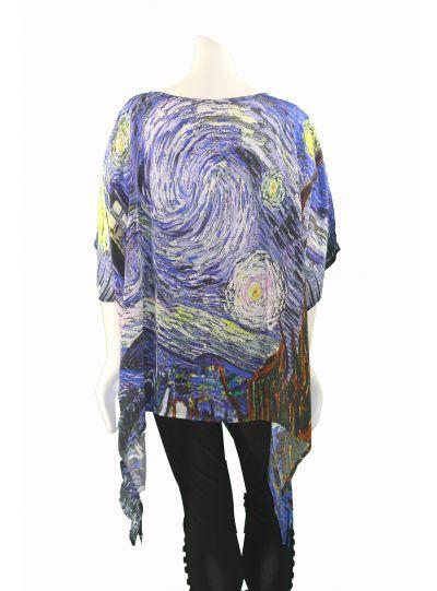 Dilemma One Size Van Gogh Art Silk Tunic FTU-114