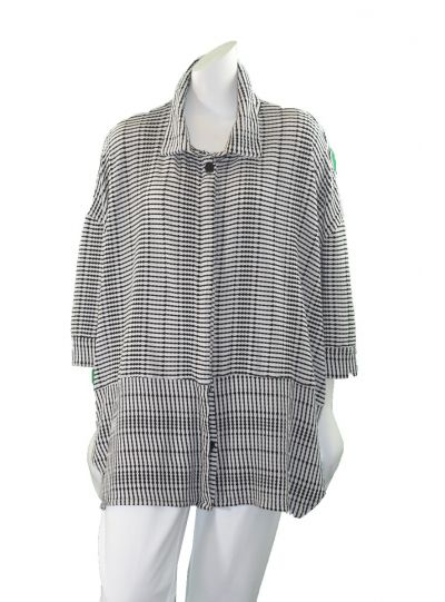 Dress to Kill Black/White Button Front Short Sleeve Shirt Banded Cappy