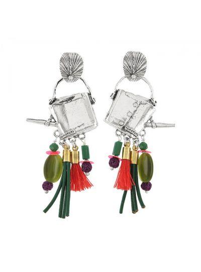 Taratata Multi Flower Watering Can Earrings E18-01904-10M