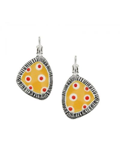 Taratata Yellow/Red Smocks Earrings E18-04734-10Y