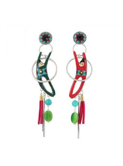 Taratata Twirling Acrobats Long Earrings E18-08974-10M
