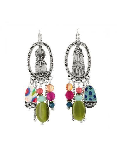 Taratata Men/Wife Beaded Earrings E18-16742-10M