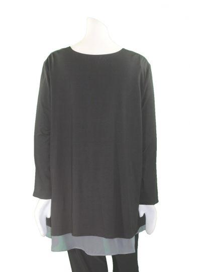 Ela Plus Size Black All Over Grommet Top E710