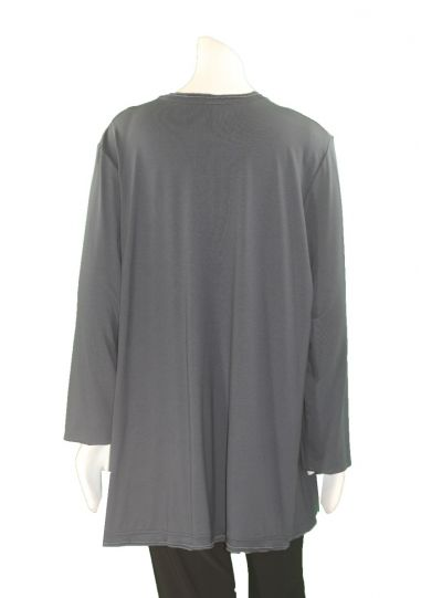 Ela Plus Size Steal Zipper Tunic E279