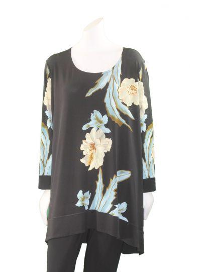 Eva Varro Plus Size Nexo/Black Floral Tunic T12383X