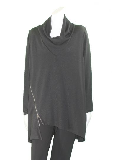 Comfy Plus Size Black Victoria Tunic FT112