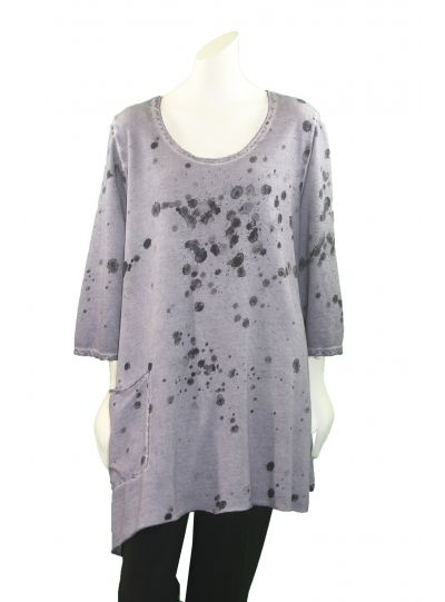 Grizas Light Lilac Splash Print Tunic 51814TO46P24