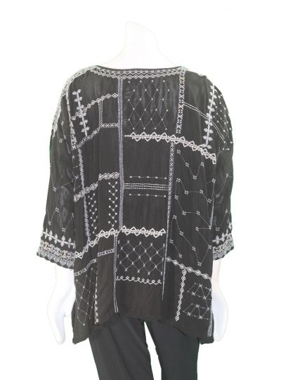 Johnny Was Black Carnation Blouse C15318-6
