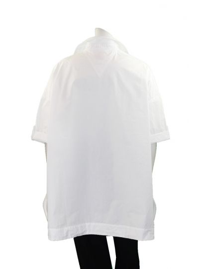 Cheyenne Plus Size White Button Front Camp Shirt JT0970