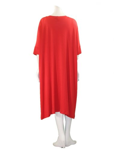 Kedem Sasson Red One Size Dolman Sleeve Dress KS4244