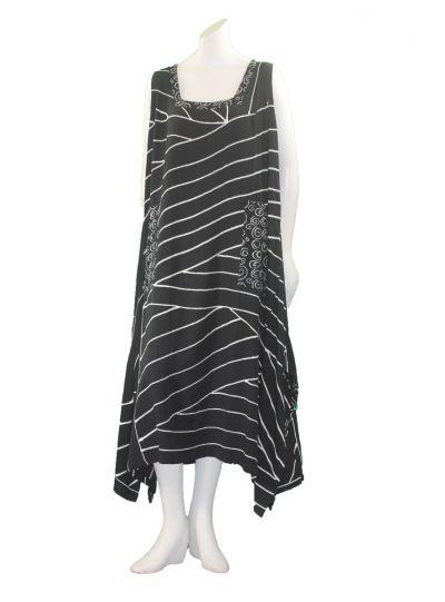 Lyng Designs Plus Size Black/White Maria Dress 4015