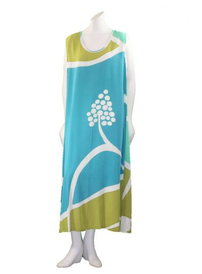 Lyng Designs Plus Size Multi Color Slip Dress 4046-18