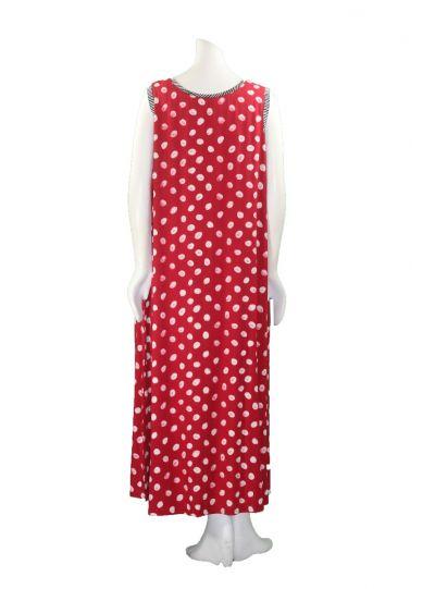 Lyng Designs Plus Size Red Polka Dot Slip Dress 4046