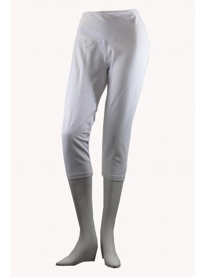 Lysse Plus Size White Capri Legging 12150