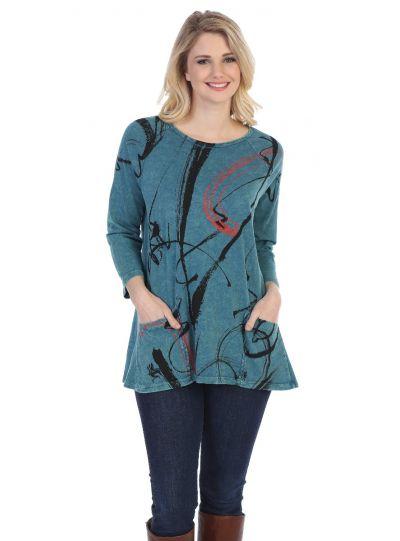 Jess & Jane Plus Size Cyp Matilda Cotton Tunic M12-1247X