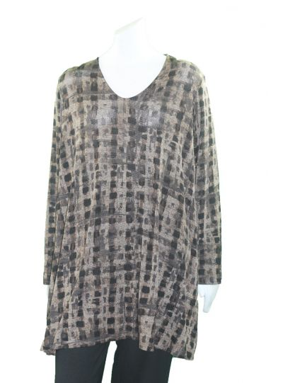 Comfy Plus Size Maureen/Black Gina Tunic M869