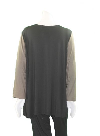Comfy Plus Size Black/Musk Mila Tunic M872