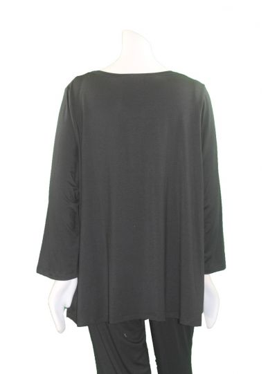 Comfy Plus Size Black/Red/Grey Kate Tunic M884