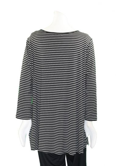 Comfy Plus Size Black/White Eva Top M894