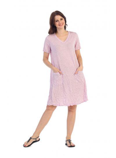 Jess & Jane Plus Size Lilac Krinkle Pullover Dress MC142