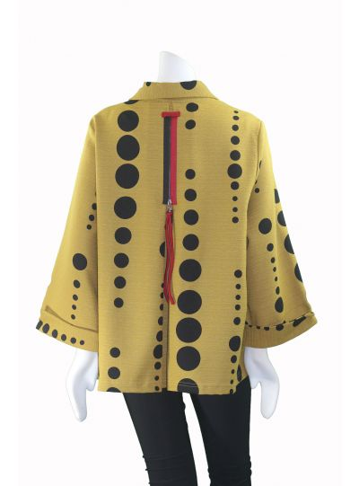 Moonlight Kiwi/Black Polk Dot W/Red Trim Detail Jacket 2342POK