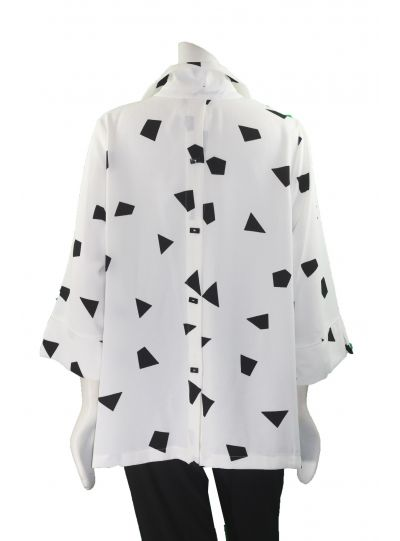 Moonlight White/Black Triangle Jacket 2565/2560