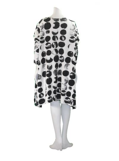 Moyuru White/Black Polka Dot Dress 181000