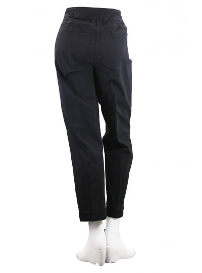 Multiples Plus Size Black Ankle Wide Band Pull On Pant M2623PW4W